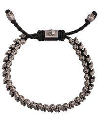 M. Cohen - 14kt White Gold Skull Bracelet - Lyst