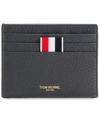 Thom Browne Double-sided cardholder with note compartment - Grau