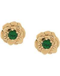 Aurelie Bidermann - 18kt Gold Tsavorite Bouquet Earrings - Lyst