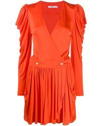 Amen Robe courte à design drapé - Orange