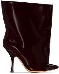 Y. Project Tubular Ankle Boots - Red