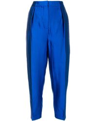 ROKSANDA Pantalones de talle alto - Azul