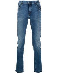 Karl Lagerfeld Jeans mit Acid-Wash-Effekt - Blau