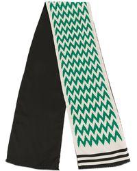 Haider Ackermann ジグザグ スカーフ - ホワイト