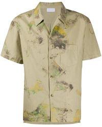 John Elliott Hemd mit Batikmuster - Grün