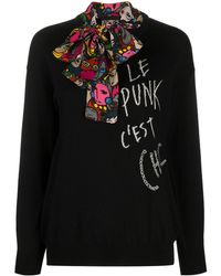 Boutique Moschino - スカーフディテール セーター - Lyst
