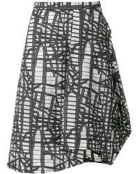 Chalayan - Asymmetric Graphic Print Skirt - Lyst