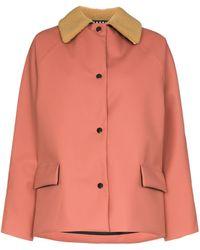 Kassl Shearling Collar Padded Jacket - Multicolour