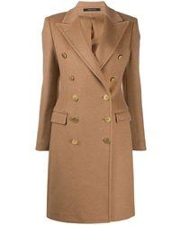 Tagliatore Двубортное Пальто - Естественный