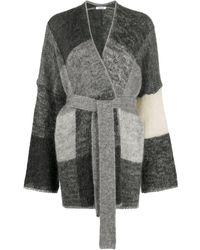 P.A.R.O.S.H. Lorain Colour-block Cardigan - Grey