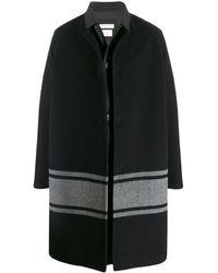 Bottega Veneta ストライプディテール コート - ブラック