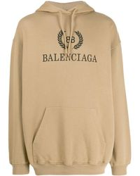 Balenciaga Bb Hoodie - Natural