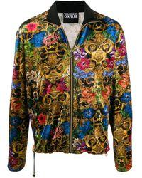 Versace Jeans Couture Trainingsjack Met Barokprint - Blauw