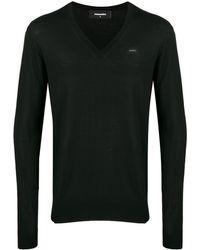 DSquared² Vネック セーター - ブラック