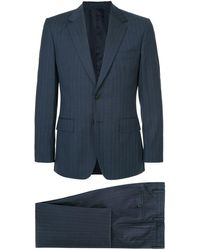 Gieves & Hawkes Two Piece Pinstripe Suit - Blauw