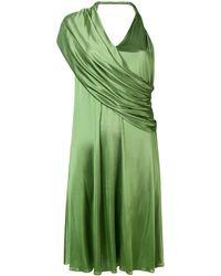 Lanvin Robe à design drapé - Vert