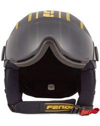 Fendi Logo-print Helmet - Black