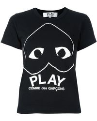 COMME DES GARÇONS PLAY - Upside Down Logo Print T-shirt - Lyst