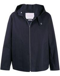 Mackintosh ローエッジ コットンゴム引き フーデッドジャケット Eddleston Gr-1014 - ブルー