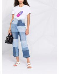 Pinko パッチワーク ストレートジーンズ - ブルー