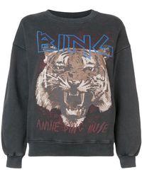 Anine Bing - Logo Tiger Print Sweatshirt - Lyst