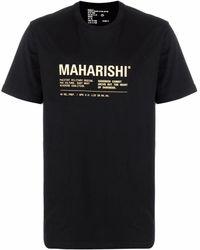 Maharishi T-Shirt mit Logo-Print - Schwarz