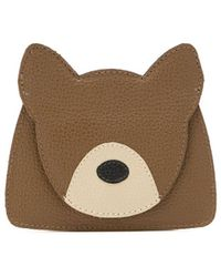 Sarah Chofakian Dog Leather Cardholder - Brown