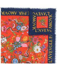 Gucci Flora snake print shawl - Multicolore