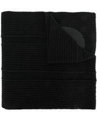 Y-3 ロゴプリント スカーフ - ブラック