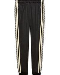 Gucci Oversize Technical Jersey jogging Pant - Black