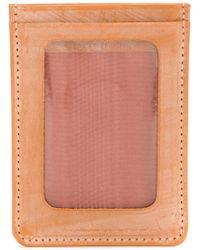 Whitehouse Cox Porte-cartes à empiècement transparent - Marron
