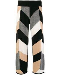 Chinti & Parker - Geometric Pattern Cropped Trousers - Lyst