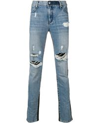 RTA Contrast Material Jeans - Blue
