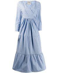 Baum und Pferdgarten Aymeline Wrap Front Dress - Blue