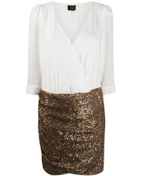 Liu Jo Sequinned Mini Dress - Metallic