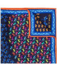 Etro Pochet Met Print - Blauw