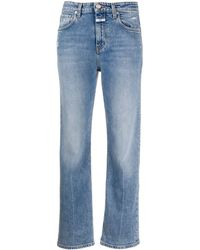Closed Baylin Distressed Straight-leg Jeans - Blue