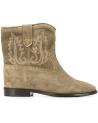 Isabel Marant Crisi Slouch Boots - Green