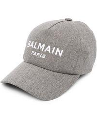 Balmain ロゴ キャップ - グレー