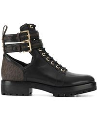 MICHAEL Michael Kors Ankle Strap Boots - Black