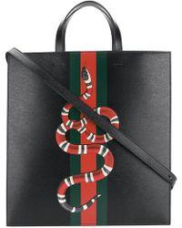 Gucci - Kingsnake Print Tote Bag - Lyst