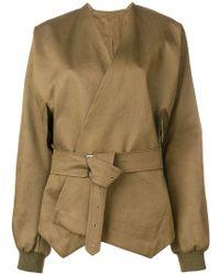 Hed Mayner - Oversized Belted Jacket - Lyst