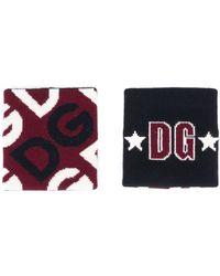 Dolce & Gabbana Polsbanden Met Logo Jacquard - Rood