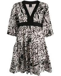 Pinko - Расклешенное Платье С Абстрактным Принтом - Lyst