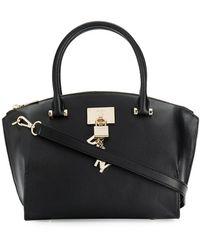 Donna Karan Handtasche mit Vorhängeschloss - Schwarz