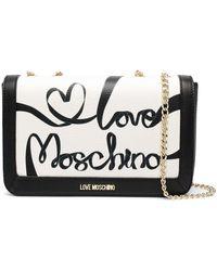 Love Moschino - バイカラー ショルダーバッグ - Lyst