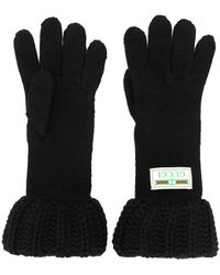 Gucci Grofgebreide Handschoenen - Zwart
