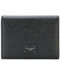 Dolce & Gabbana Portefeuille à plaque logo - Noir