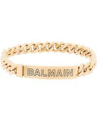 Balmain Choker con logo - Metallizzato