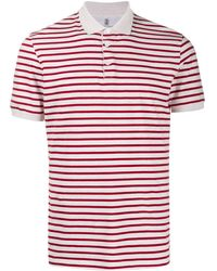Brunello Cucinelli - Полосатая Рубашка-поло - Lyst